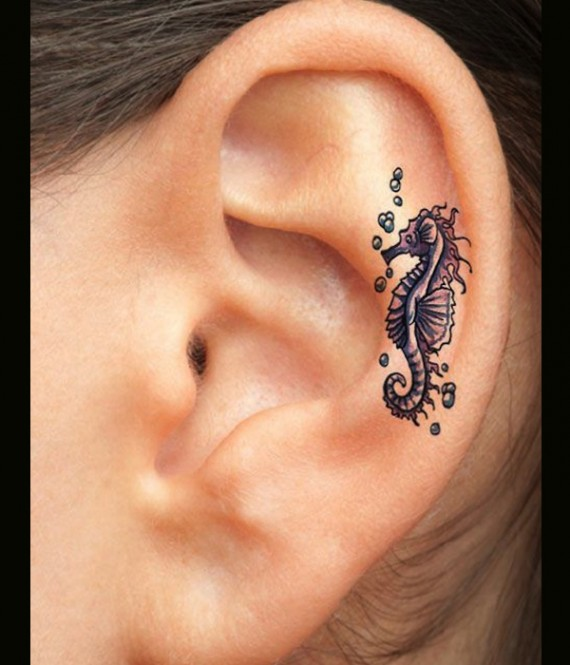 Above the Ear Tattoo