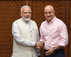 PM with Anupam kher