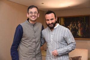 Saif Ali Khan and Ananth Narayanan_CEO_Myntra- Jabong