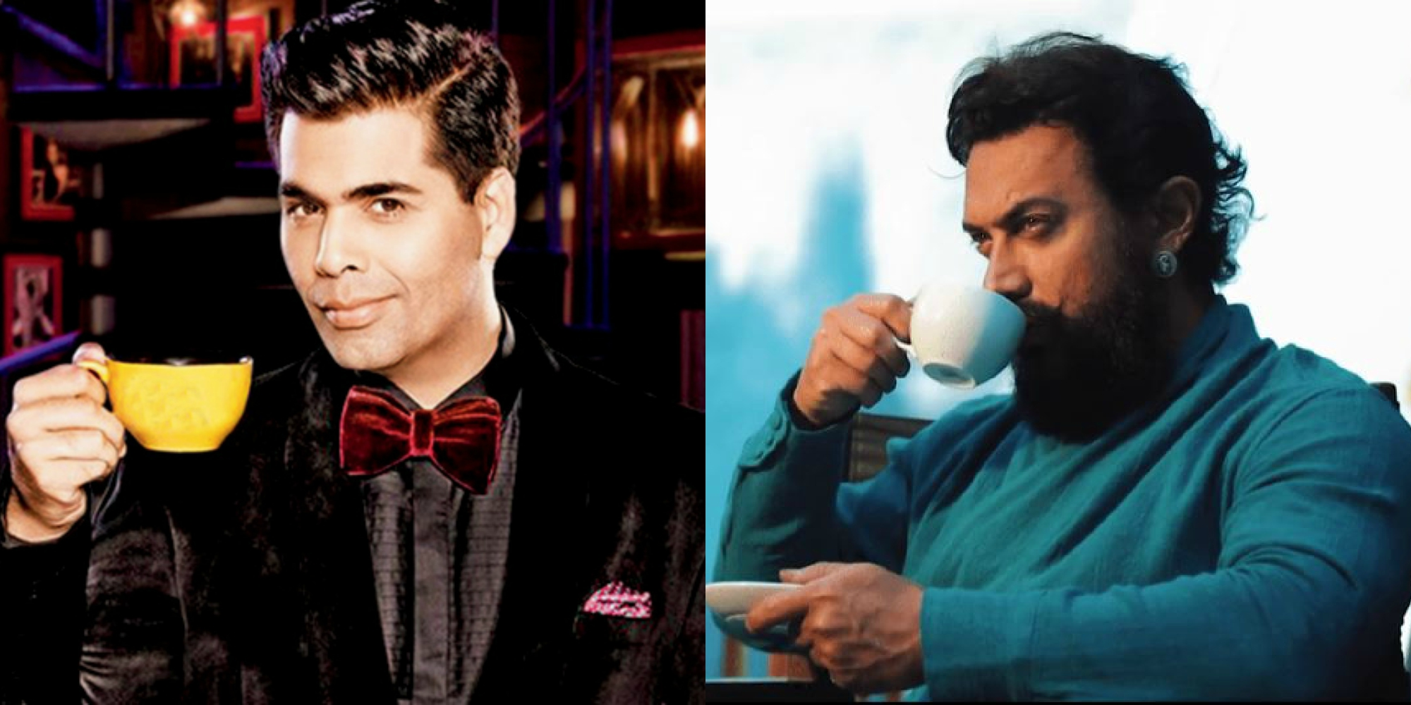 Karan with Aamir Khan image