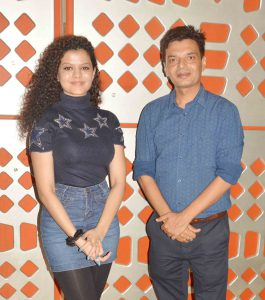 singer palak with Debutant Director Satyajeet Mishra